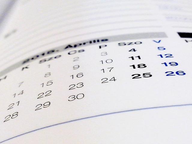 Calendario de TFE